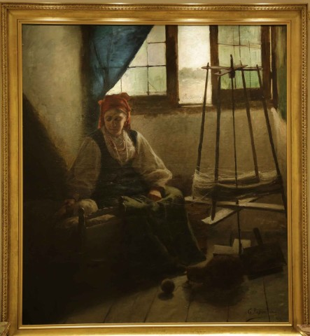 A Mother by the Spinning Wheel