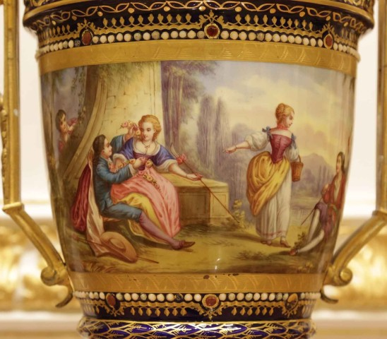Empire style pair of vases