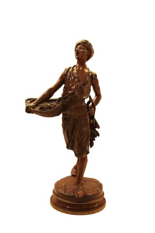 Bronze figure of Oriental boy