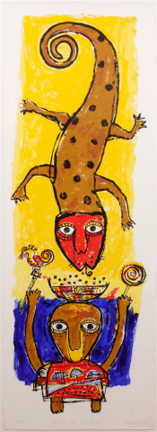 Toyin Loye, FEAST FOR SPIRITS I, 1997