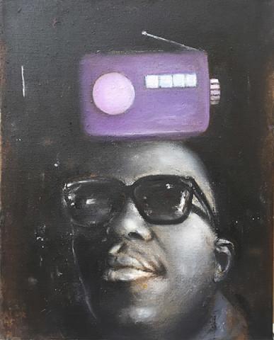 MAN WITH PURPLE RADIO
