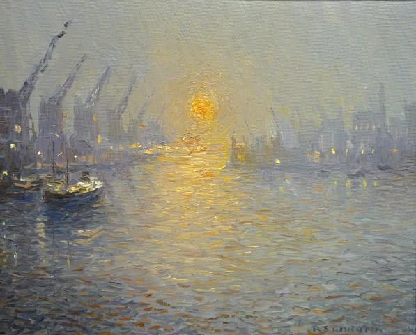 Winter Sunset, North Bay, Trafford Wharf, Manchester