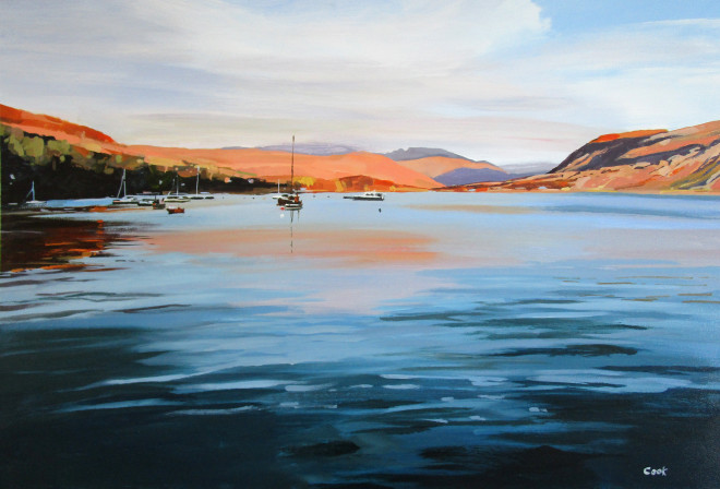 Colin Cook, Loch Broom at Dusk, Ullapool