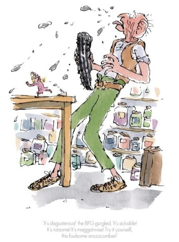 Quentin Blake/Roald Dahl, 'It's Disgusterous!' the BFG gurgled