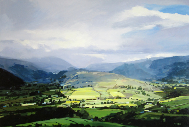 Colin Cook, High Rigg from Blease Fell