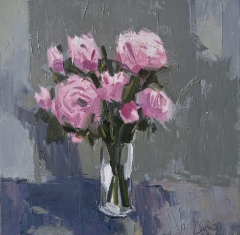 Gary Long, Pink on Blue