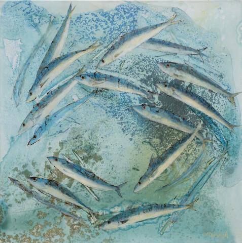 <span class=&#34;artist&#34;><strong>Catherine Forshall</strong></span>, <span class=&#34;title&#34;><em>'Mackerel, estuary'</em></span>