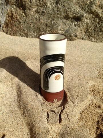 Fish Pye Pottery, Cylindrical Vase I