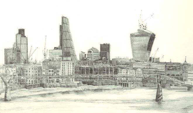 Melanie Bellis, London City Skyline
