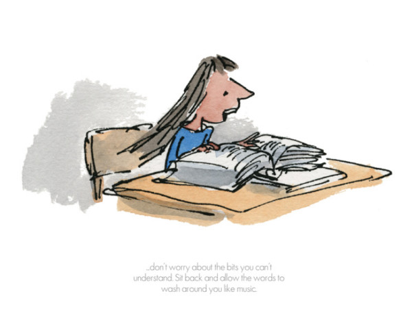 Quentin Blake/Roald Dahl, Sit Back and Allow the Words to Wash Around You