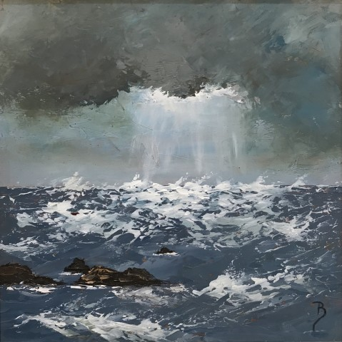 David Beer, Rough Sea, St Ives