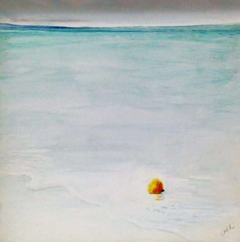 Dorothea Carr, Orange Buoy, Low tide West Wittering, 2016
