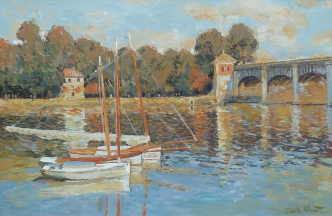 John Myatt, The Bridge At Argenteuil - Original