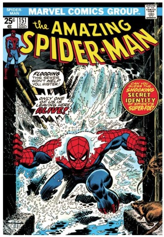 The Amazing Spiderman #151 - Only One Of Us Is Leaving Here Alive!  (paper)