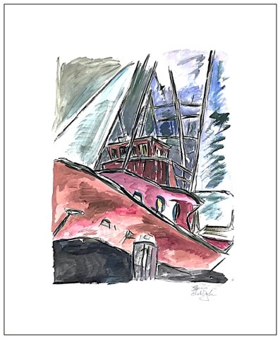 Bob Dylan, Dry Dock - original, 2008
