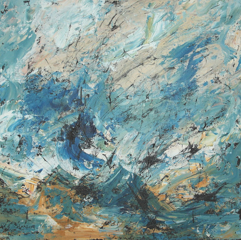 Andrea Scott, Abstract Seascape (026), 2017