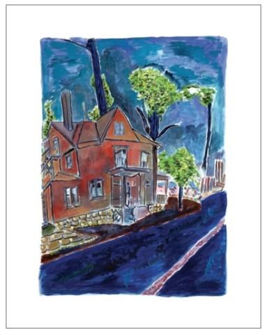 Bob Dylan, House On Union Street (medium format), 2013
