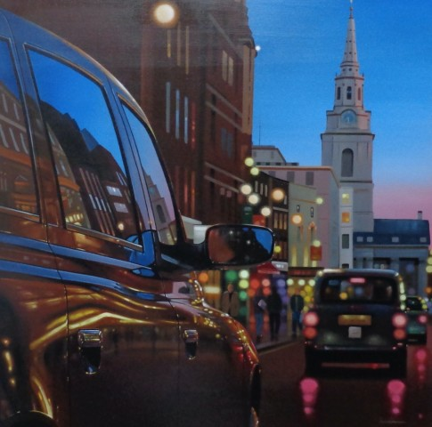 Neil Dawson, London Dusk Reflections