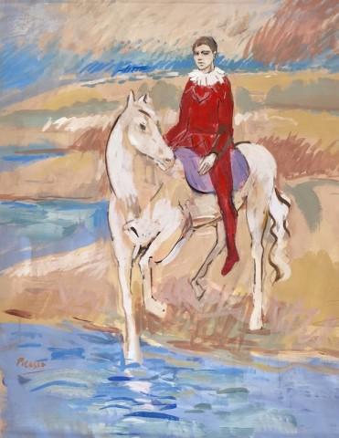 Harlequin On Horse - Original