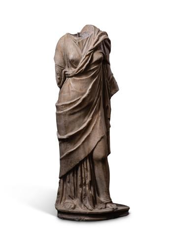 Roman statue of a draped goddess, 1st century BC- 1st century AD