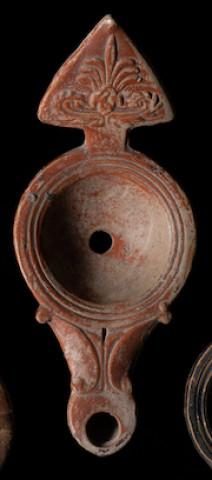 Roman lamp with triangular handle, Italy, 1st century AD