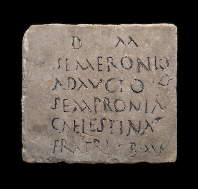 Roman epitaph, 2nd-3rd century AD