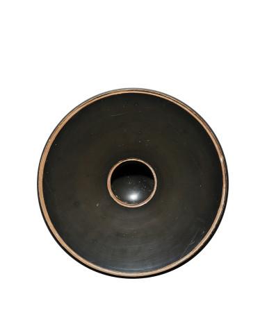 Greek black-glaze fish plate, Athens, c.375 BC
