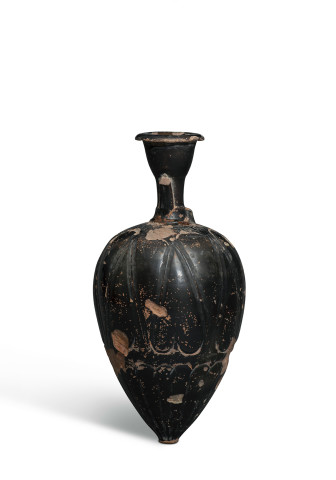 Greek black-glaze amphoriskos, Attic, c.425-400 BC