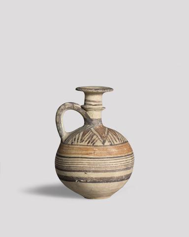 Cypriot Bichrome ware juglet, Cypro-Archaic I, 700-600 BC