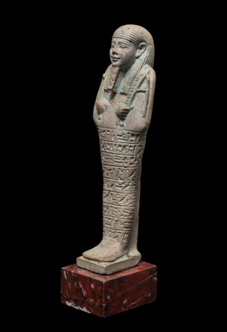 Egyptian shabti for Iahmes, Late Dynastic Period, 30th Dynasty, c.380-343 BC