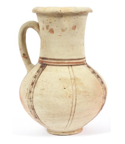 Egyptian terracotta pitcher, New Kingdom, New Kingdom, 18th Dynasty, c.1550-1320 BC