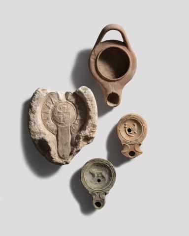 Roman lamp mould, c.5th century AD