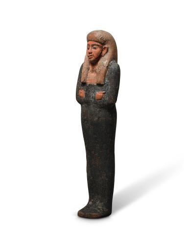 Egyptian polychrome shabti, New Kingdom, 18th Dynasty, 1550–1292 BC