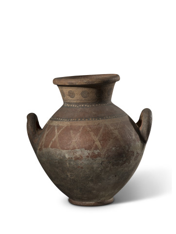 Cypriot Bichrome Red Ware amphora, Cypro-Archaic, c.600-475 BC