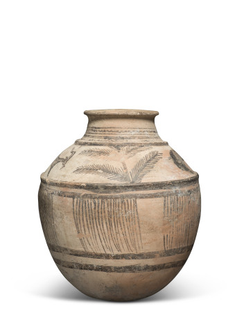 Elamite jar with goats and palms, Susa region, Iran, mid 3rd millennium BC