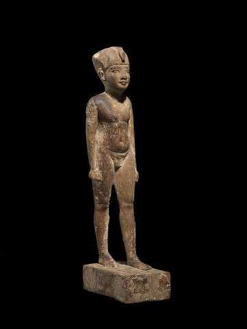 Egyptian statuette of a youthful Pharaoh, Ptolemaic Period, early 3rd century BC