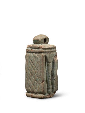 Egyptian amulet of a shrine (naos), Late Dynastic Period, c.747-332 BC