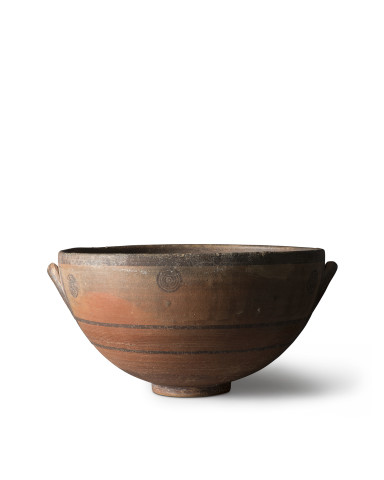 Large Cypriot Black-on-Red ware bowl, Cypro-Archaic, c.750-600 BC