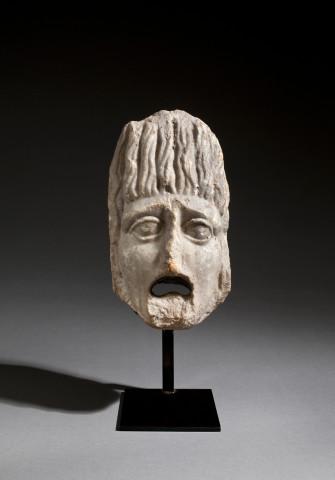 Roman architectural theatre mask, 1st-2nd century AD