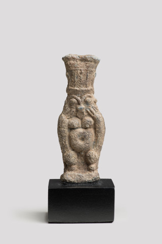 Egyptian Bes Vase, Late 5th-4th century BC