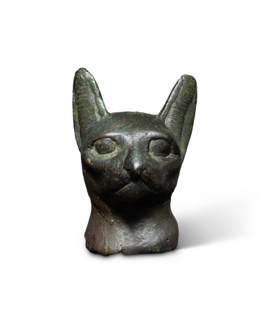 Egyptian head of a cat, Late Dynastic Period, 25th-31st Dynasty, 747-332 BC