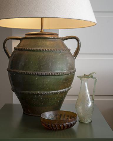 Roman amber-coloured pillar-moulded bowl, 1st century BC-1st century AD