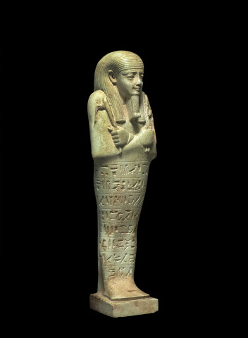 Egyptian shabti for Nefer-ib-re-sa-neith, Saqqara, Late Dynastic Period, 26th Dynasty, reign of Amasis II, c.570-526 BC