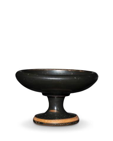 Greek black-glaze stemmed dish, Athens, c.450 BC