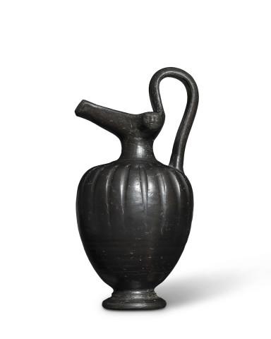 Greek black glaze oinochoe, Italy, c.4th-3rd century BC