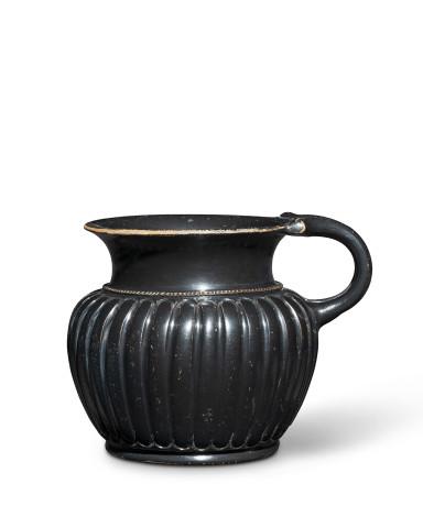 Greek black-glaze ribbed mug, Pheidias Type, Athens, c.440-420 BC