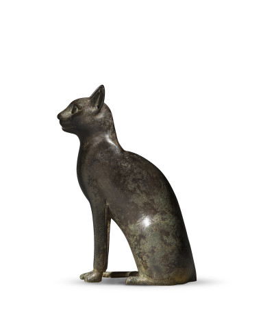 Egyptian statuette of a cat, Late Dynastic Period, 26th Dynasty, Saite Period, c.664-525 BC