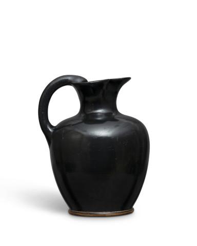 Greek black-glaze oinochoe, Athens, c.450 BC
