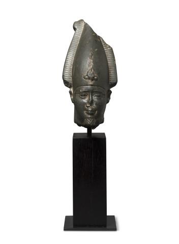 Egyptian head of Osiris, Late Dynastic Period, 26th Dynasty, 664-525 BC
