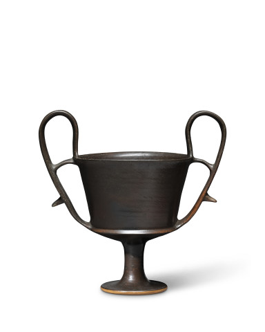 Greek black-glaze kantharos, Boeotia, 5th century BC